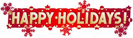 Happy holidays december fears and cheers spillville clipart