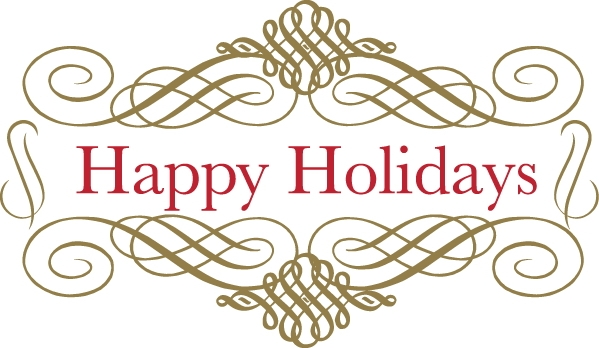 Happy holidays free suggested wording geographics clip art