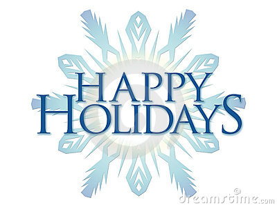 Happy holidays here clip art