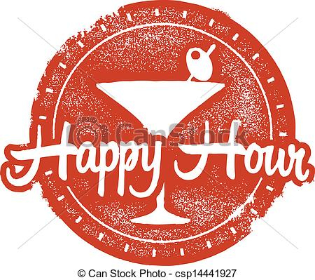 ... Happy Hour Cokctail Stamp - Bar And -... Happy Hour Cokctail Stamp - Bar and restaurant happy hour.-10