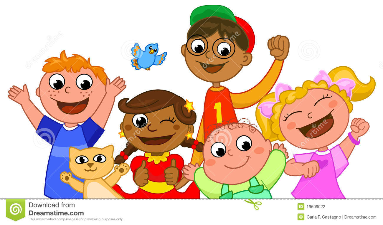 Happy kids clipart - ClipartFest