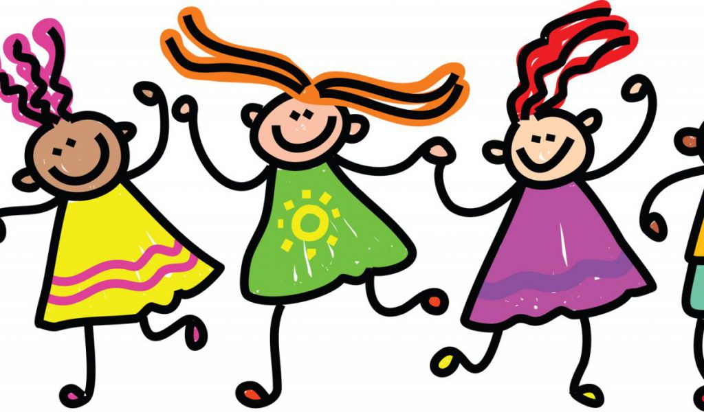 happy kids clipart