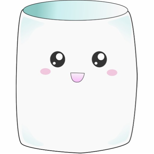 Happy Marshmallow In Hot Choc - Marshmallow Clipart