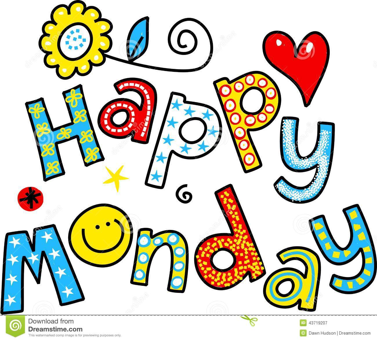 Happy Monday Cartoon Text Cli - Happy Monday Clipart