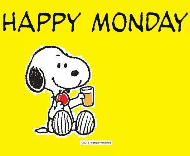 Happy Monday Snoopy Car Tunin - Happy Monday Clipart