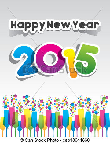 Happy New Year 2015 Greeting .