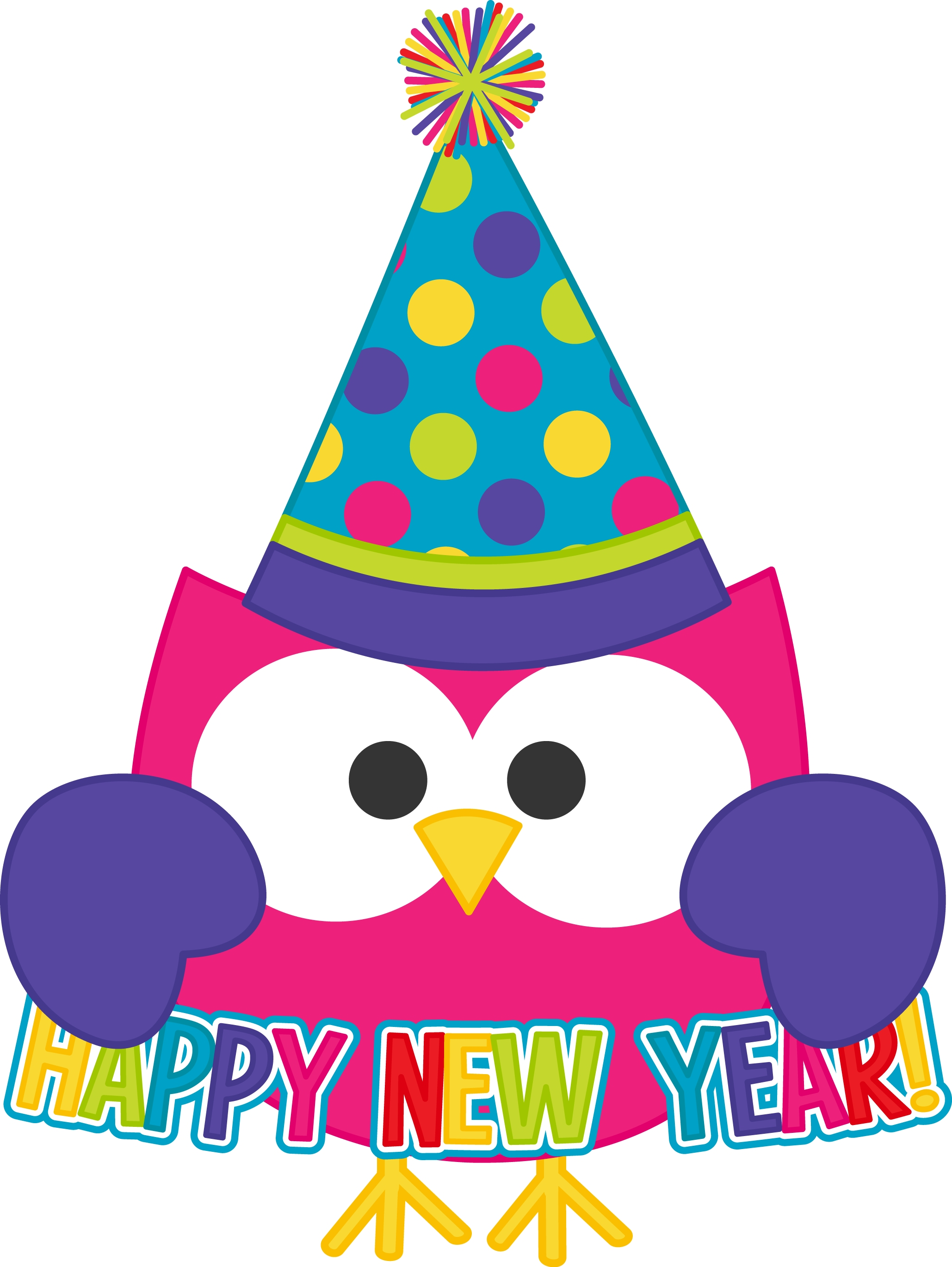 Happy New Year 2017 Free Cute - New Year Clip Art