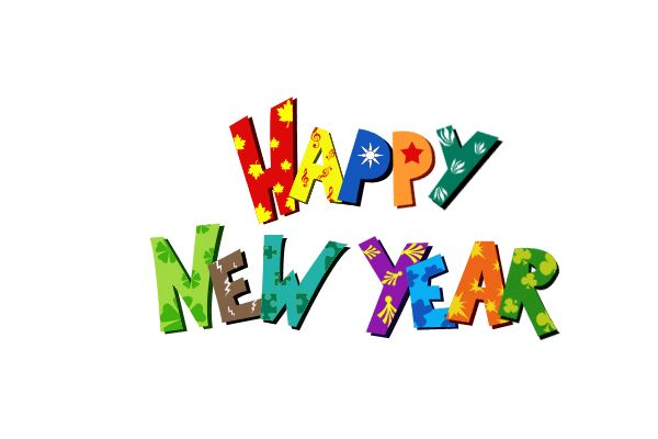 Happy New Year Beautiful Clipart