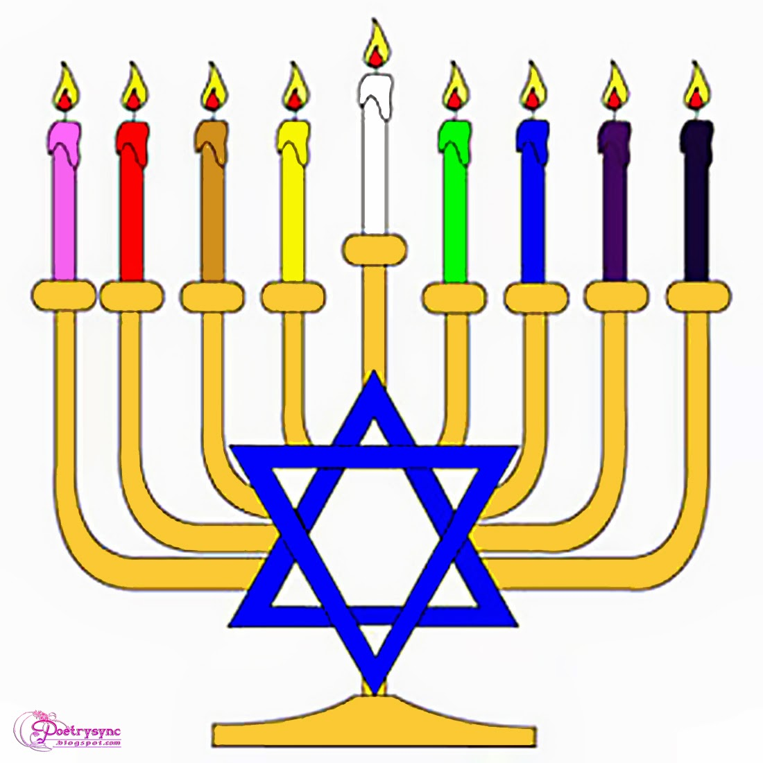 Happy New Year Hanukkah Candle Clip Art Pictures