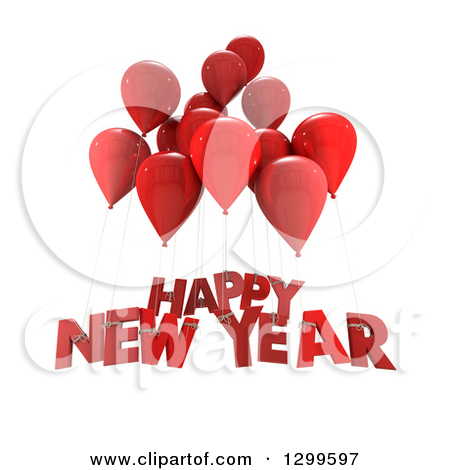 ... Happy New Year Text On White Royalty Free Illustration. Preview Clipart