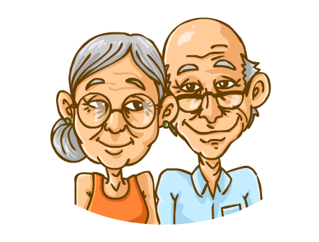 Happy Old People Clipart