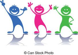 ... Happy people,children - Cartoon colorful happy.