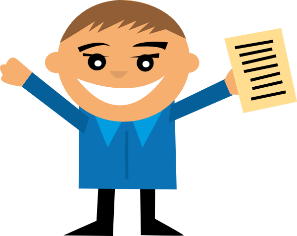 Happy Person With Paper Clip Art At Clke-Happy Person With Paper Clip Art At Clker Com Vector Clip Art Online-4