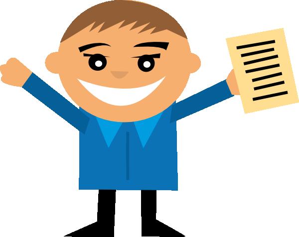 Happy Person With Paper Clip Art At Clker Com Vector Clip Art Online
