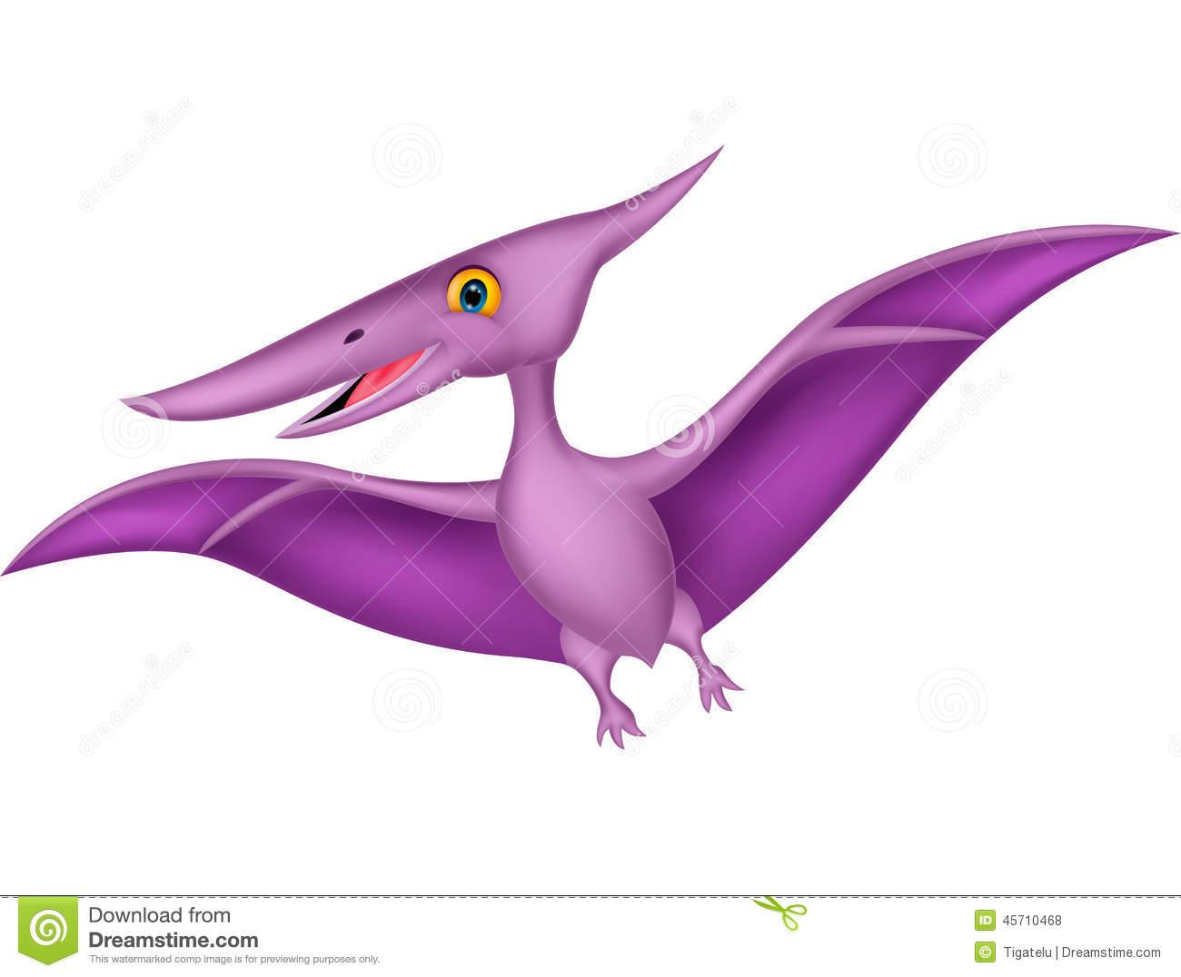 Happy pterodactyl cartoon Roy - Pterodactyl Clipart
