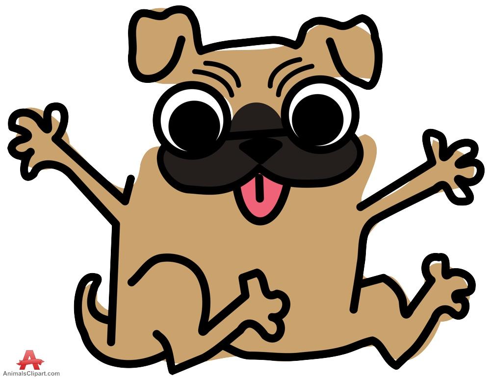 Happy Pug Dog Clipart-Happy Pug Dog Clipart-7