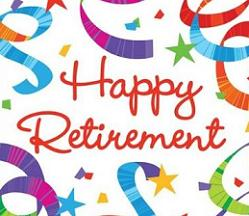 Happy Retirement with streamers card