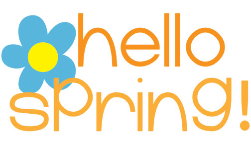 ... Happy spring clip art ...