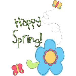 Happy spring clipart ...