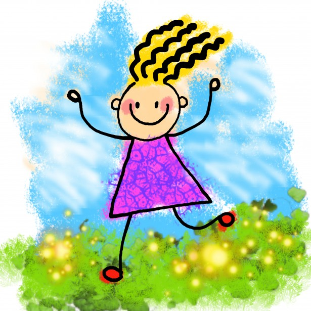 Happy Stick Girl Clip Art By Dawn Hudson