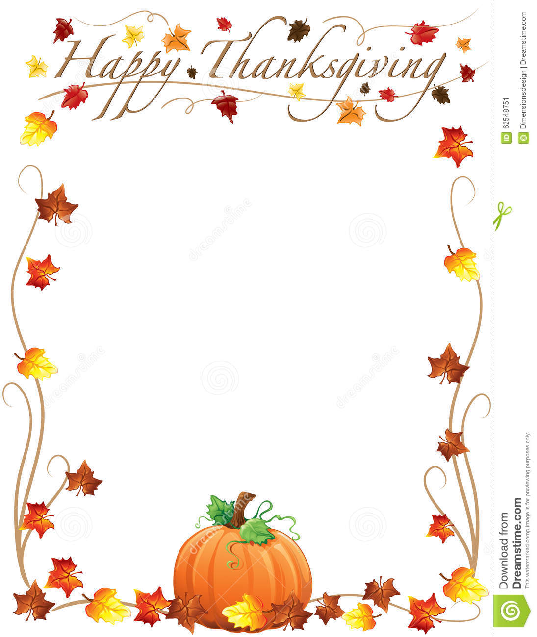 Happy Thanksgiving border with .