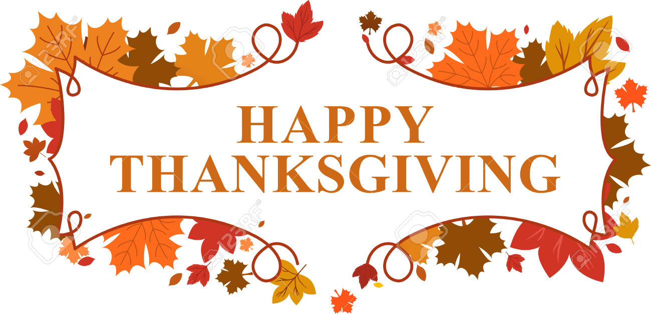 happy thanksgiving clip art . Banner Happy Thanksgiving .