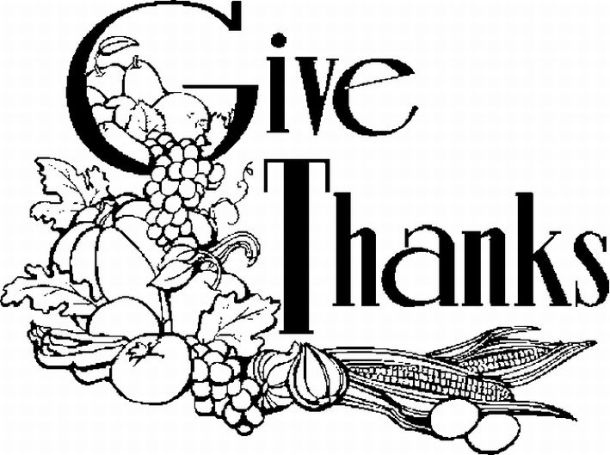 Happy Thanksgiving clipart . - Black And White Thanksgiving Clipart