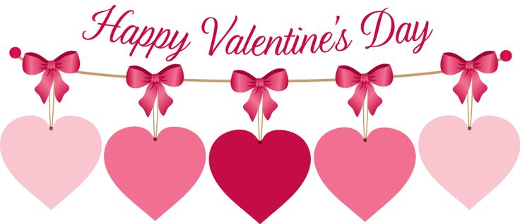 Happy Valentineu0026#39;s Day Hanging Hearts Clipart