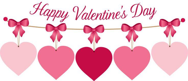 Happy valentines day banner .