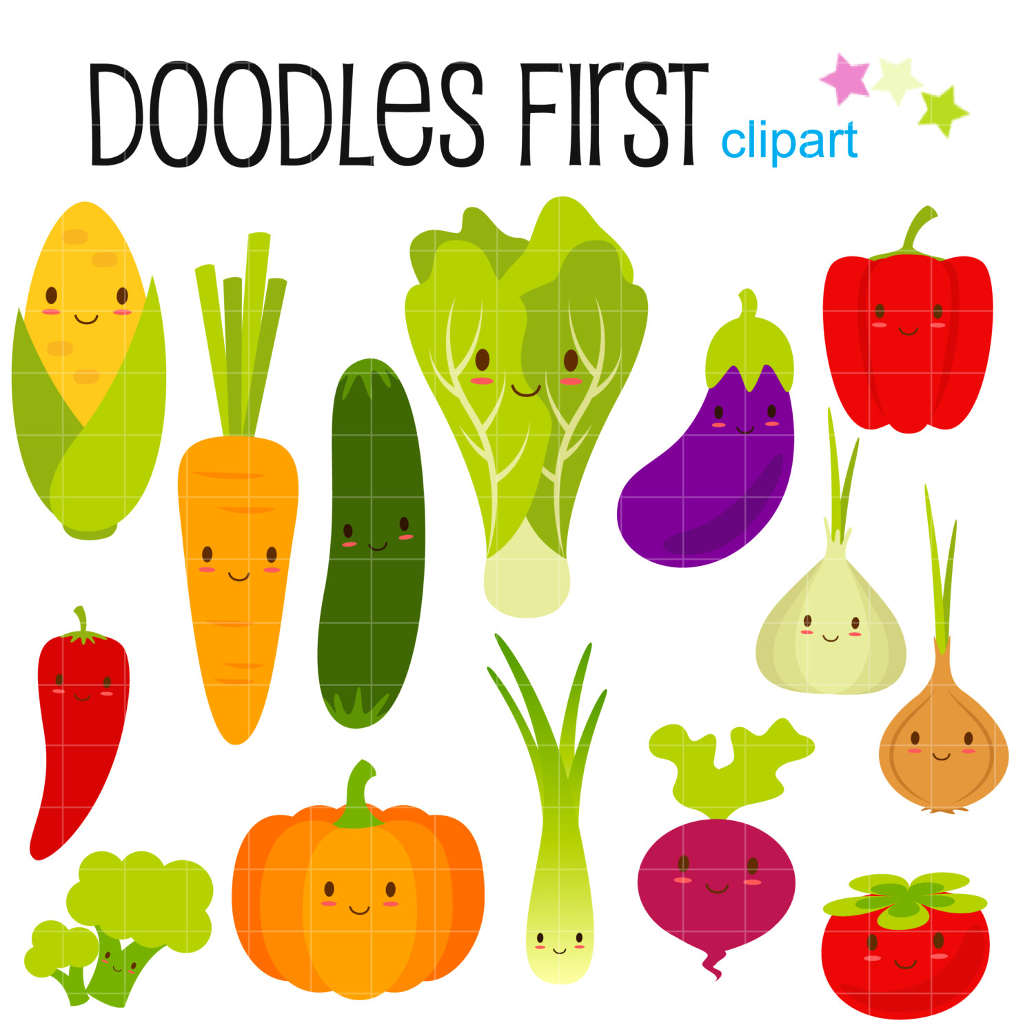 Happy Vegetable Clipart