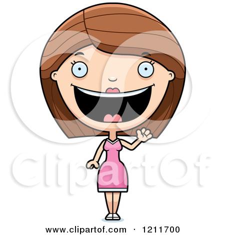 Happy Woman Waving by Cory Thoman