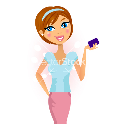 Happy Woman With Credit Card .-Happy woman with credit card .-15