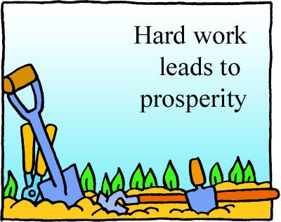 Hard Prosperity clip art .