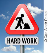 ... hard work busy with important job working sign