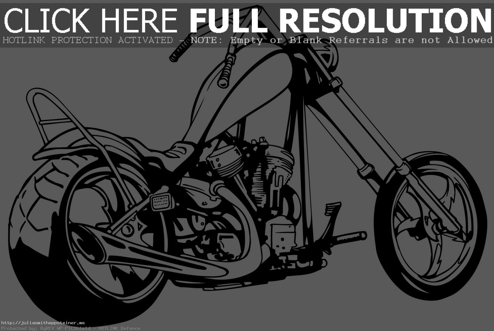 . ClipartLook.com Clipart Tank Image Tearing Chopper Motorcycle Silhouette B Free Lovely Harley  Davidson ClipartLook.com
