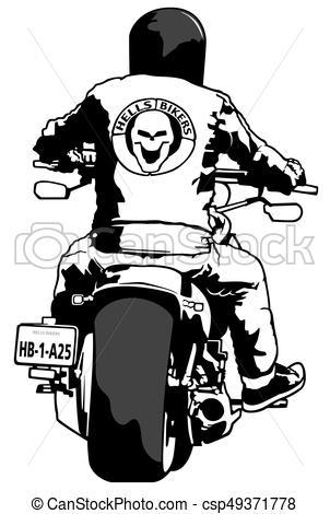 Harley Davidson And Rider - Csp49371778-Harley Davidson and Rider - csp49371778-4