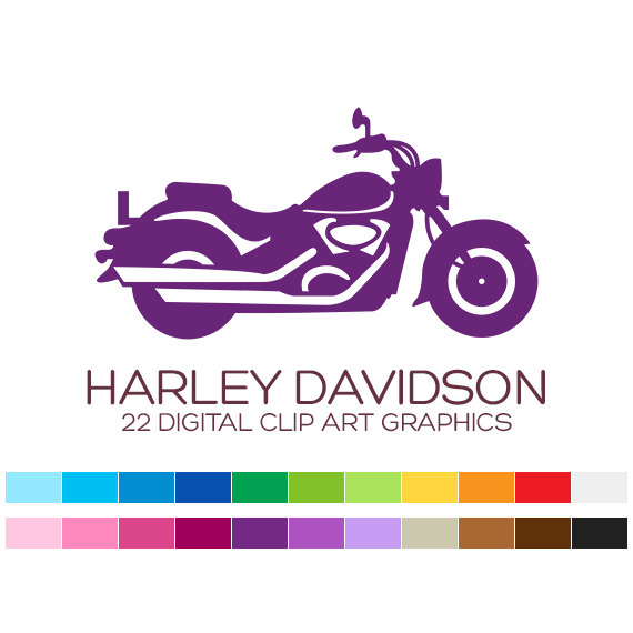 Harley Davidson Clipart Motorcycle Clipart Vehicle Clipart Bike Clipart  Transportation Birthday Invitation Boy Clipart Fathers Day - A00162