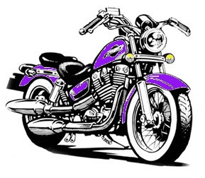 Harley Davidson Motorcycle Cartoon Clipart #1