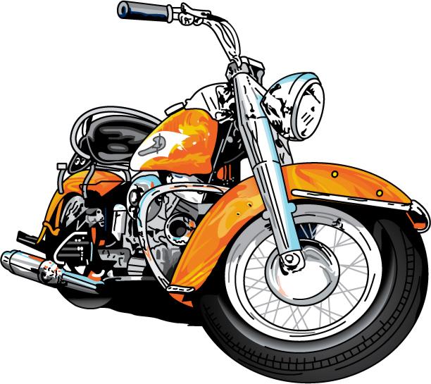 Harley davidson motorcycle clipart 2