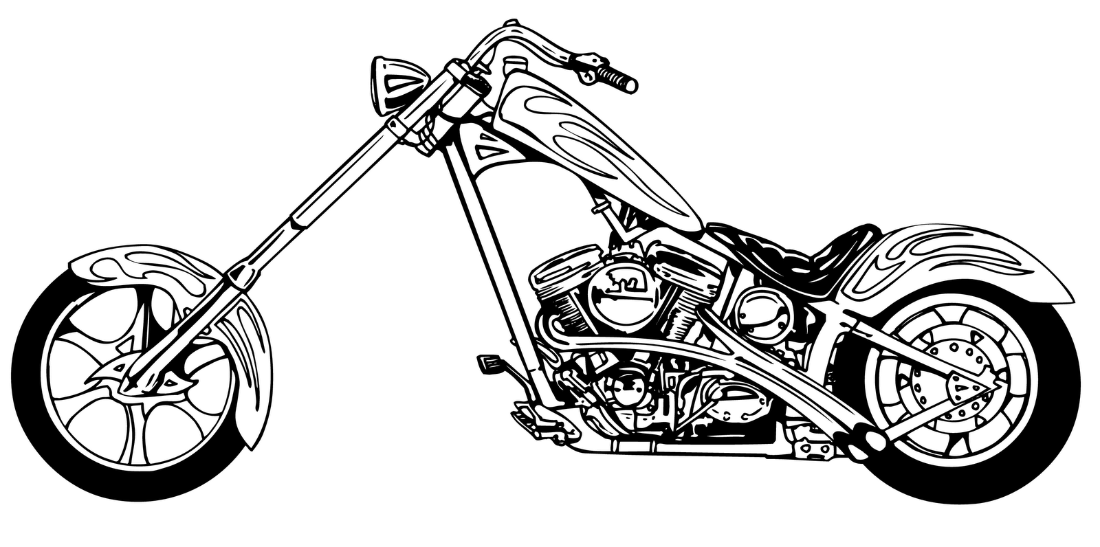 Harley Motorcycle Clip Art .-Harley motorcycle clip art .-14