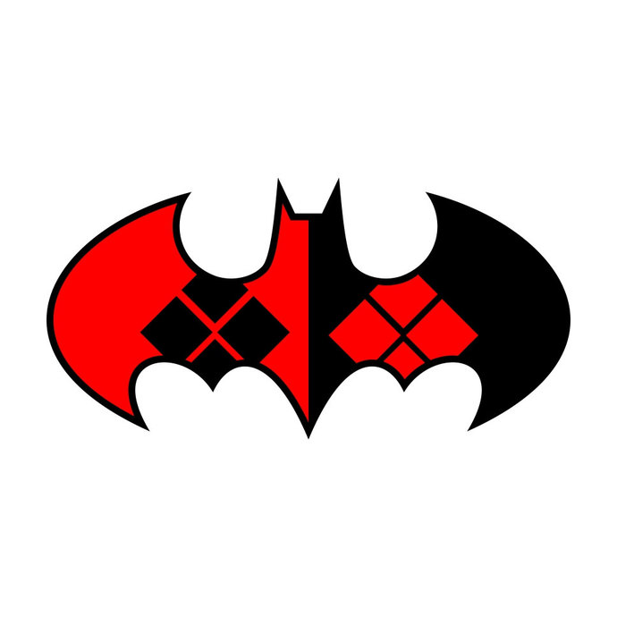 Harley Quinn Batman graphics design SVG DXF EPS Png Cdr Ai Pdf Vector Art
