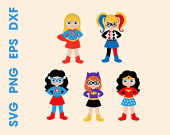 Superheroes SVG Superhero girls Cutting files Cricut Silhouette Instant  download