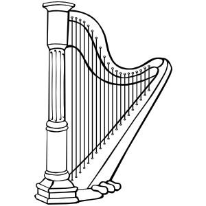 Harp Clipart 2-Harp clipart 2-8