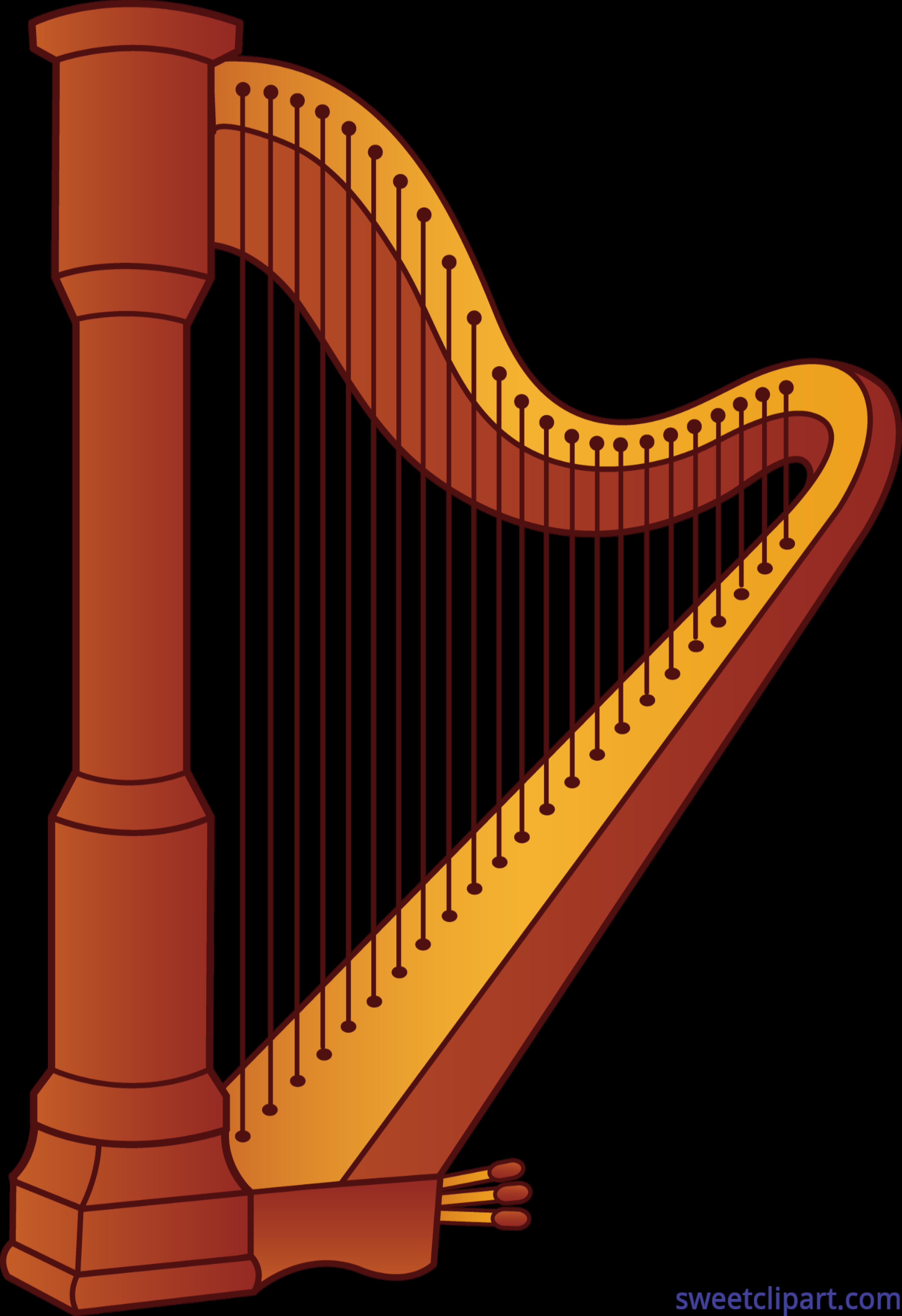 Harp Clip Art-Harp Clip Art-1