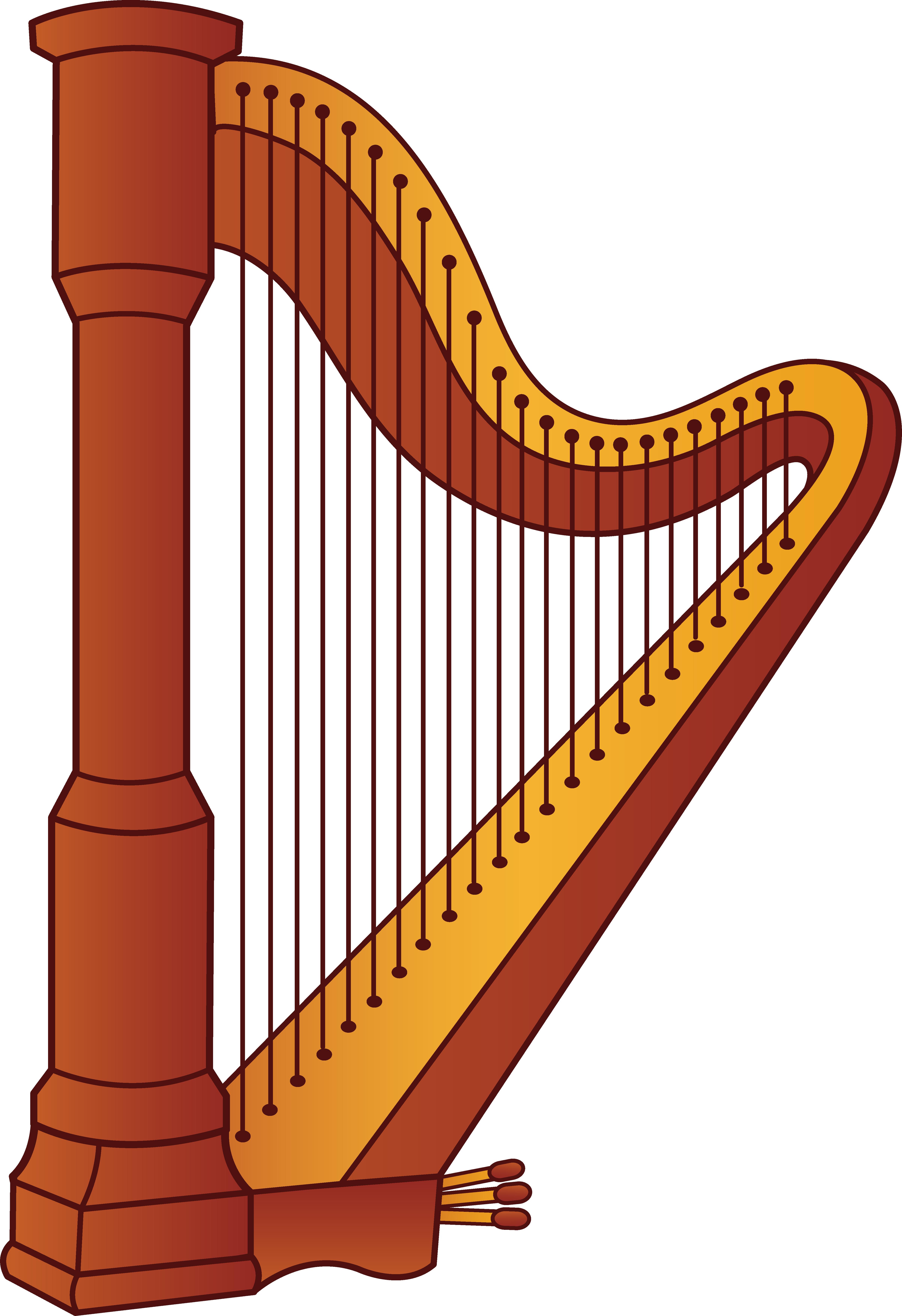 Royalty-Free (RF) Harp Clipar