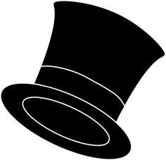 hat clip art black and white | Clip Art -hat clip art black and white | Clip Art of a Top Hat-9