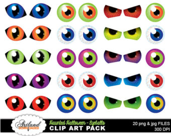 Haunted Halloween Holiday Decoratio N Ey-Haunted Halloween Holiday Decoratio N Eyeball Eye Clip Art Instant-16
