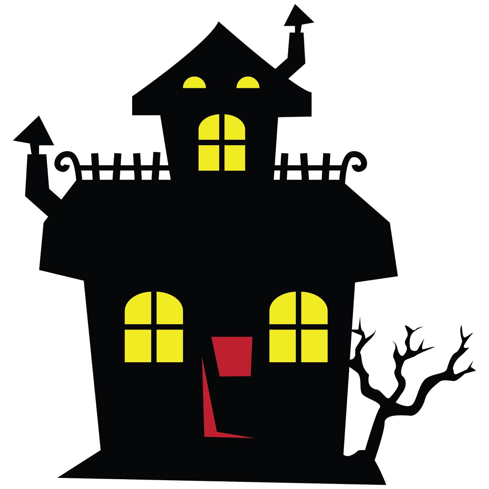 Haunted House Clip Art. Halloween Haunted House
