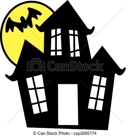 ... Haunted House - Vector illustration of haunted house in.