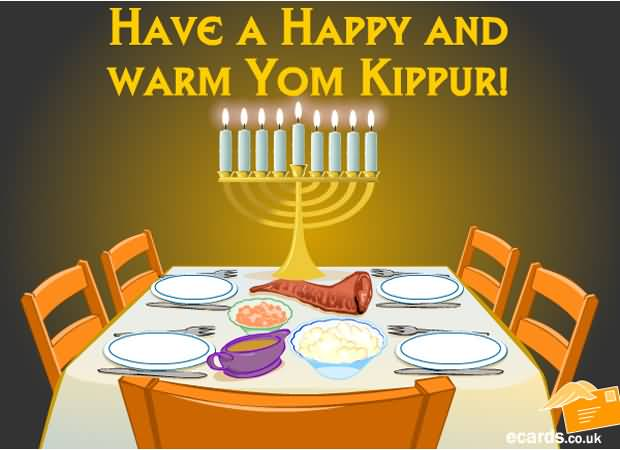 Have A Happy And Warm Yom Kippur Clipart